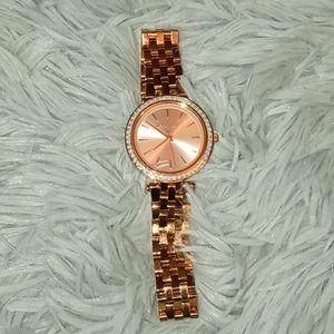 Micheal Kors Rose Gold In Color Watch